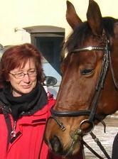 die Stute Miranda mit Monika Hirschmugl-Fuchs